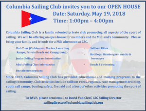 Open House/Blessing of the Fleet @ Columbia Sailing Club